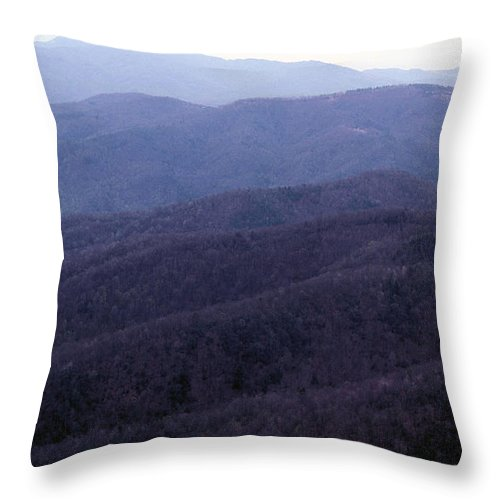 Mountains Throw Pillow featuring the photograph The Blue Ridge by Richard Rizzo