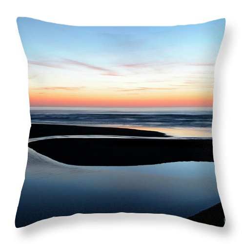 Beach Throw Pillow featuring the photograph The Blue Zone California by Bob Christopher