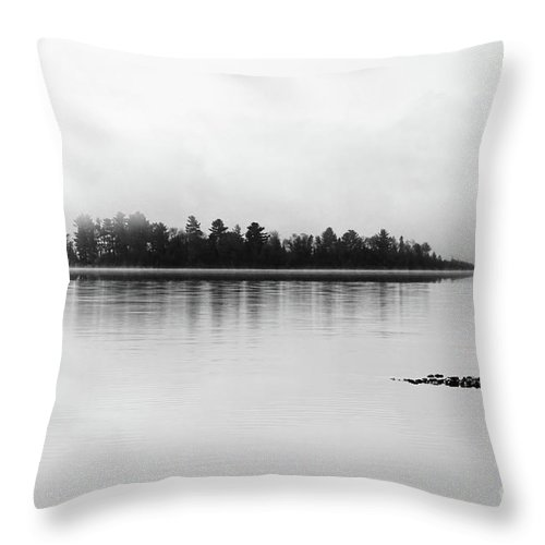 Morning Fog Throw Pillow featuring the photograph The Breaking Fog by Cathy Beharriell