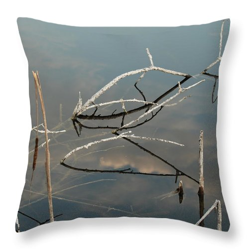 Wood Throw Pillow featuring the photograph The Bridge by Rob Hans