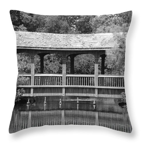 Architecture Throw Pillow featuring the photograph The Bridges Of Miami Dade County by Rob Hans