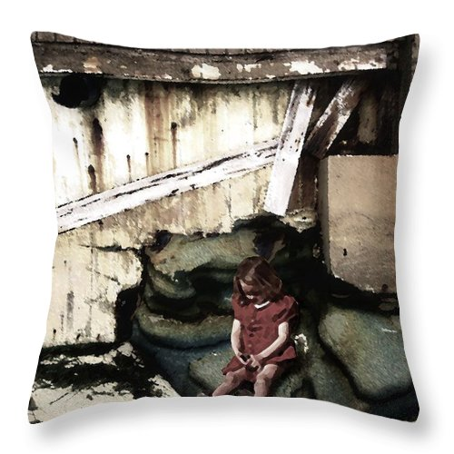 Broken Home Throw Pillow featuring the photograph The Broken Home by Timothy Bulone