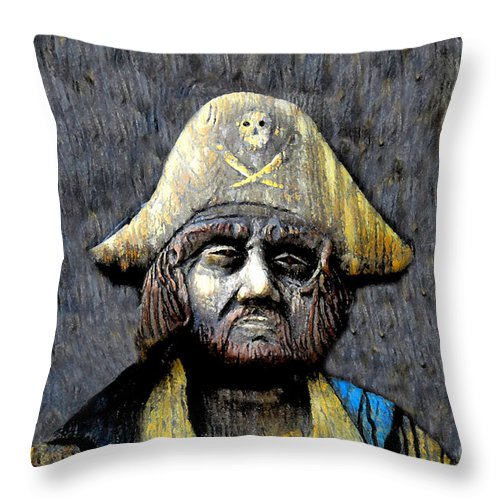 Buccaneer Throw Pillow featuring the painting The Buccaneer by David Lee Thompson