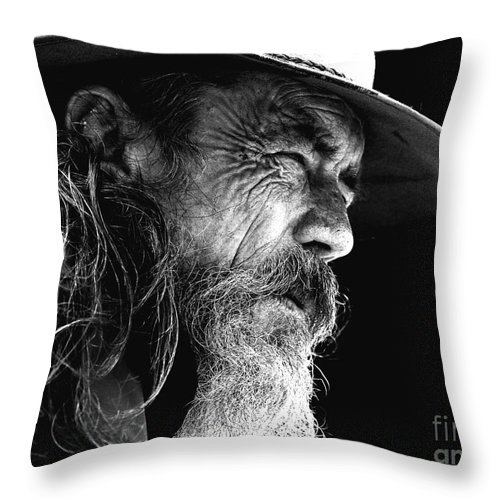 Australian Bushman Hat Throw Pillow featuring the photograph The Bushman by Sheila Smart Fine Art Photography