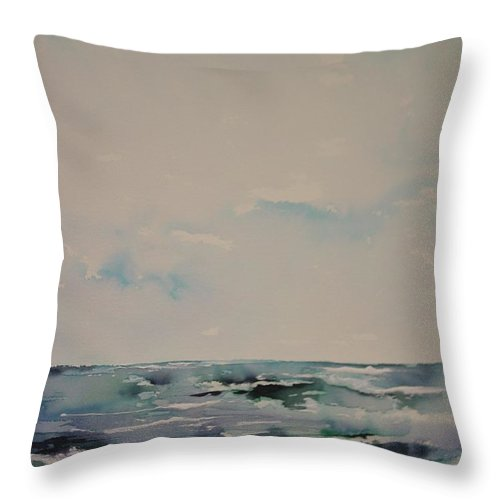 Sky Throw Pillow featuring the painting The Calm After The Storm by Robin Miller-Bookhout