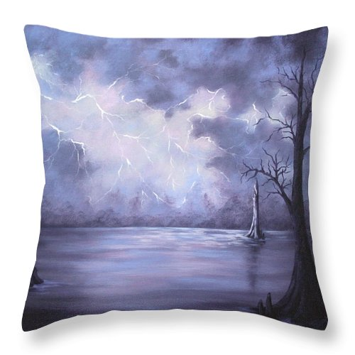 Throw Pillow featuring the painting The Calm Before The Storm by Ruth Bares