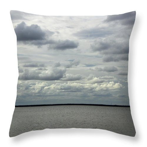 Cloud Throw Pillow featuring the photograph The Calm Before The Storm by Suzanne Gaff
