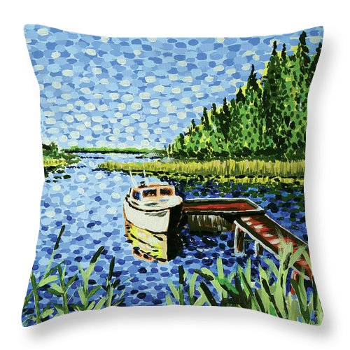 Hogan Throw Pillow featuring the painting The Calypso by Alan Hogan