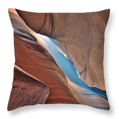 Usa Throw Pillow featuring the photograph The Canyon by Radek Spanninger