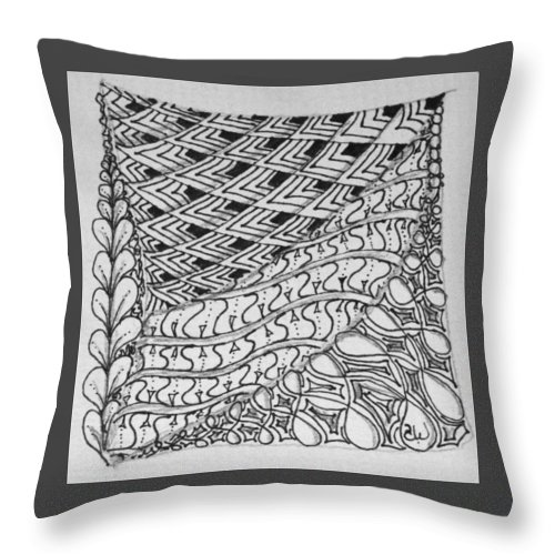 Cape Throw Pillow featuring the drawing The Cape by Sharra Walton
