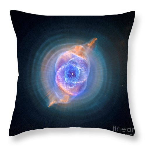 Hubble Throw Pillow featuring the photograph The Cat's Eye Nebula by Nicholas Burningham