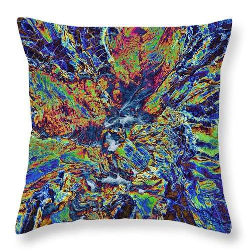 Abstract Throw Pillow featuring the photograph The Center Eye by Steven Parker