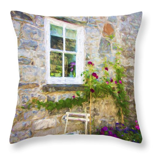 Chair Throw Pillow featuring the photograph The Chair by Sheila Smart Fine Art Photography