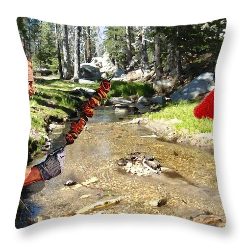Digital Art Throw Pillow featuring the photograph The Challenge by Snake Jagger