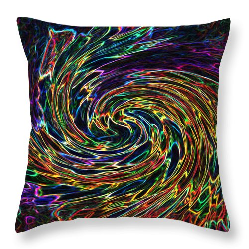 Abstract Throw Pillow featuring the digital art The Cherub's Flight by Iliyan Bozhanov