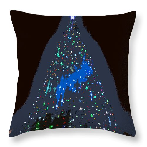 Christmas Throw Pillow featuring the painting The Christmas Star by David Lee Thompson