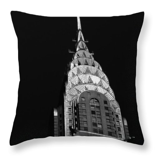 Chrysler Building Throw Pillow featuring the photograph The Chrysler Building by Vivienne Gucwa