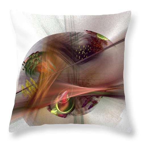 Abstract Throw Pillow featuring the digital art The Circle Sea by NirvanaBlues