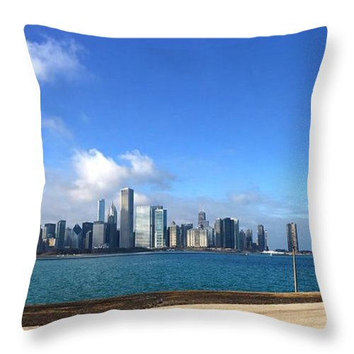 Landscape Throw Pillow featuring the photograph The City by Felisidelfa Barber