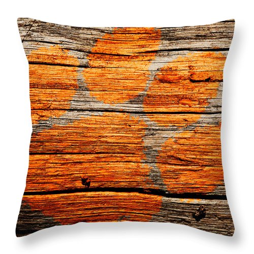 Clemson Tigers Football Throw Pillow featuring the mixed media The Clemson Tigers 1a by Brian Reaves
