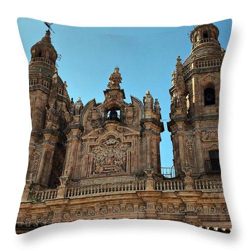 Clerecia Throw Pillow featuring the photograph The Clerecia Church In Salamanca by Farol Tomson