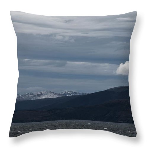 Landscape Throw Pillow featuring the photograph The Cloud by Kedar Munshi
