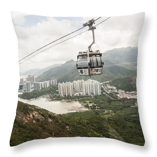 Hong Kong Throw Pillow featuring the photograph The Clouds by Israel Hernandez