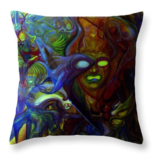 Chaos Throw Pillow featuring the painting The Clutter Of Chaos by Will Le Beouf