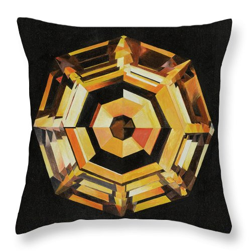 Diamond Throw Pillow featuring the painting The Cognac Diamond by Imre Muller