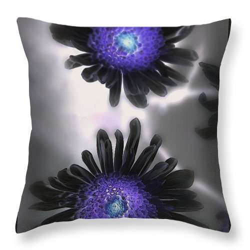Flowers Throw Pillow featuring the photograph The Color Within by Linda Sannuti