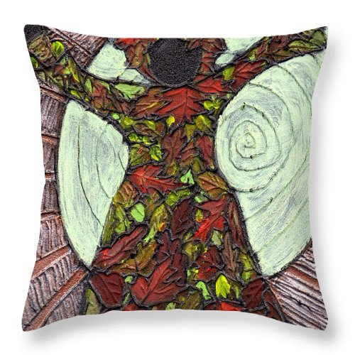 Autumn Throw Pillow featuring the painting The Coming Of Autumn by Wayne Potrafka