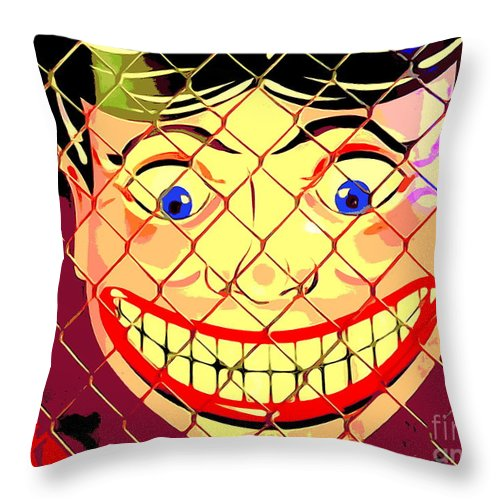 Digital Throw Pillow featuring the photograph The Coney Smile by Ed Weidman