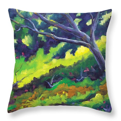 Art Throw Pillow featuring the painting The Cool Shade by Richard T Pranke