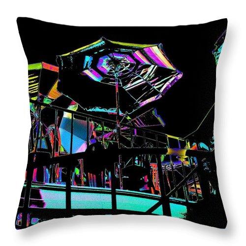 Seattle Throw Pillow featuring the digital art The Copacabana by Tim Allen