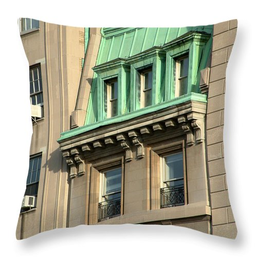 Apartments Throw Pillow featuring the photograph The Copper Attic by RC DeWinter