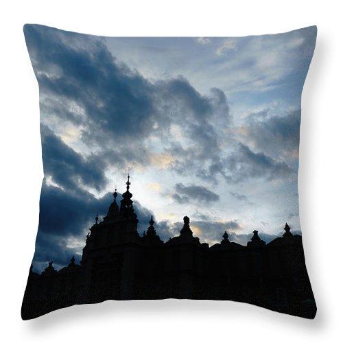 Cloth Throw Pillow featuring the photograph The Crakow Cloth Hall by Elena Rodionova