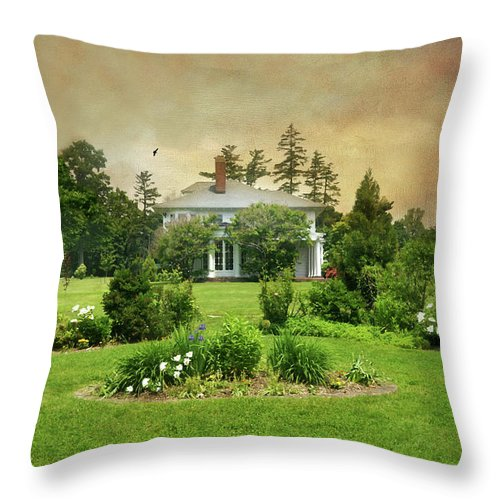 Nature Throw Pillow featuring the photograph The Crawford Park Mansion by Diana Angstadt