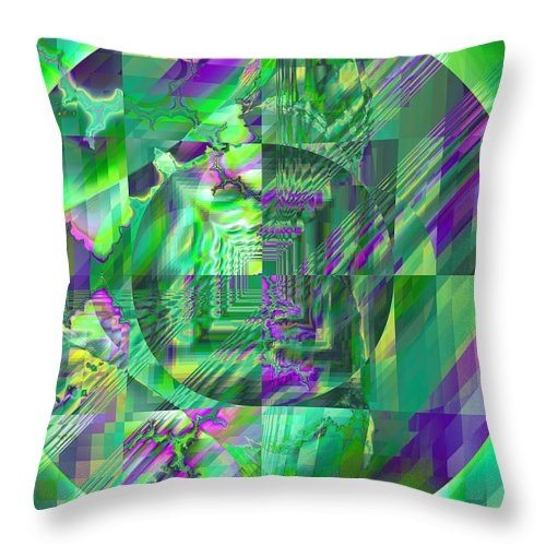 Fractal Throw Pillow featuring the digital art The Crazy Fractal by Frederic Durville