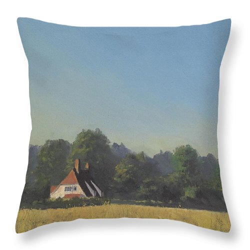 Landscape Trees Throw Pillow featuring the painting The Crooked Billet by Richard Picton
