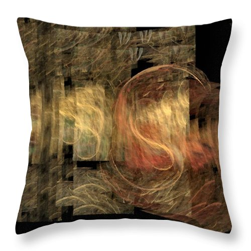 Abstract Throw Pillow featuring the digital art The Crooked Road by NirvanaBlues