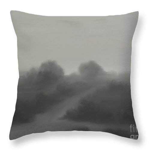 Landscape Throw Pillow featuring the painting The Crossroads by James Christopher Hill