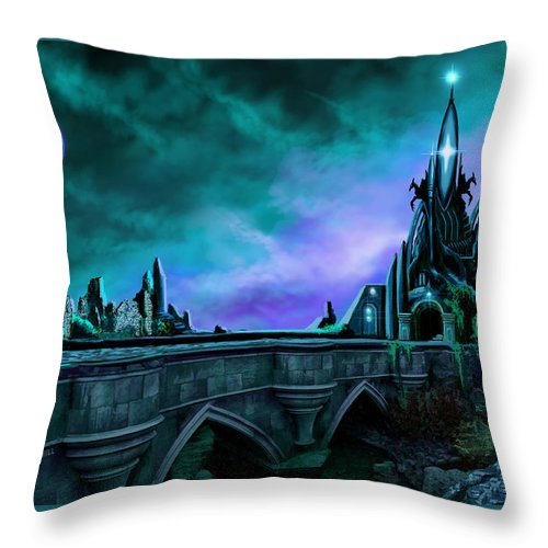 Copyright 2015 - James Christopher Hill Throw Pillow featuring the painting The Crystal Palace - Nightwish by James Christopher Hill