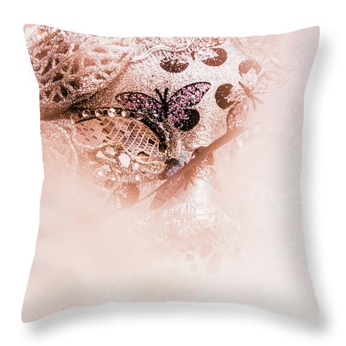 Mask Throw Pillow featuring the photograph The curtain close by Jorgo Photography - Wall Art Gallery
