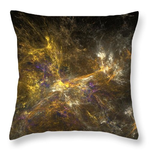 Abstract Digital Photo Throw Pillow featuring the digital art The Dance 3 by David Lane
