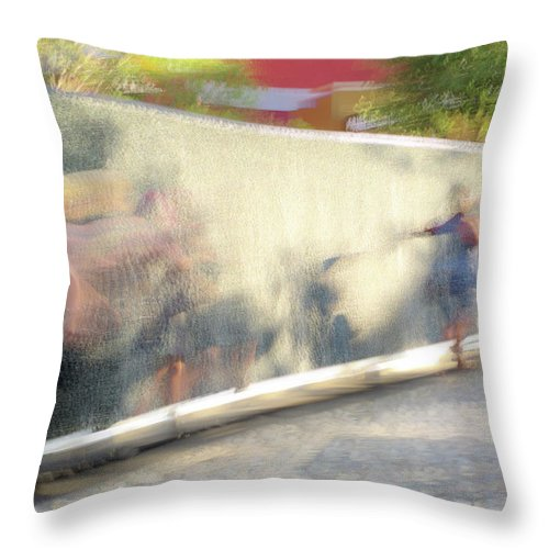 Dance Throw Pillow featuring the photograph The Dance Of Spring by Alex Lapidus