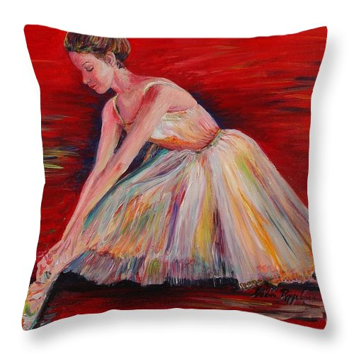 Dancer Throw Pillow featuring the painting The Dancer by Nadine Rippelmeyer