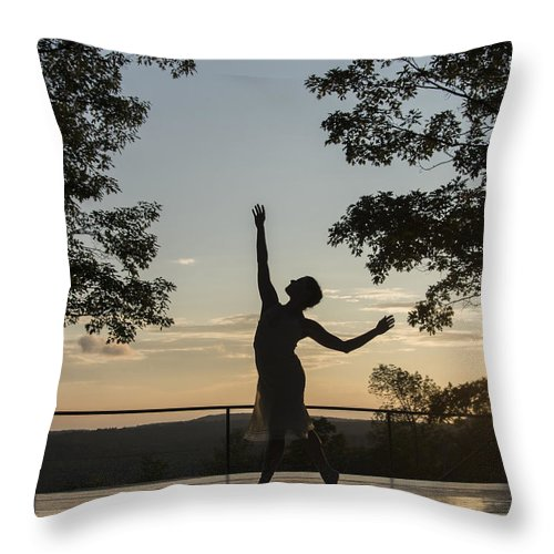 Dancer Throw Pillow featuring the photograph The Dancer by Roni Chastain