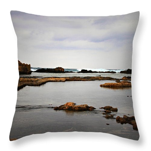 Throw Pillow featuring the photograph The Dark Sea by Sylvia Coomes