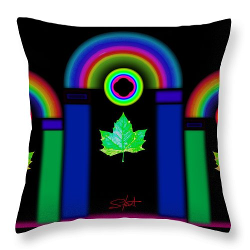 Classical Throw Pillow featuring the painting The Dark Side Of The Tuscan Moon by Charles Stuart