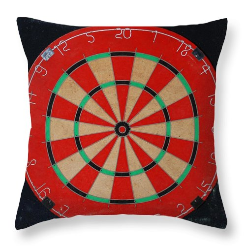Macro Throw Pillow featuring the photograph The Dart Board by Rob Hans